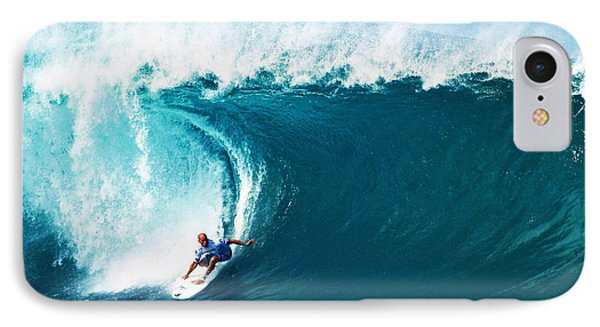 Pro Surfer Kelly Slater Surfing In The Pipeline Masters Contest IPhone 8 Case