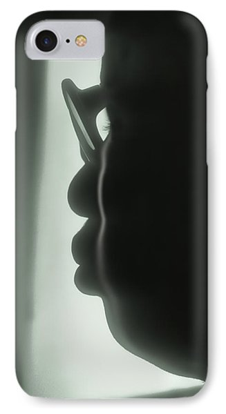 Profile Of A Woman IPhone Case