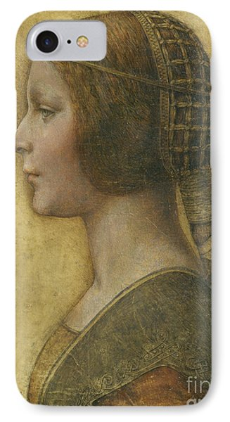 Portraits iPhone 8 Case - Profile Of A Young Fiancee by Leonardo Da Vinci