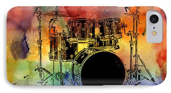 Psychedelic Drum Set IPhone Case