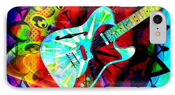 Psychedelic Guitar IPhone Case