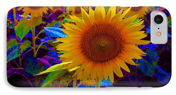 Psychedelic Sunflowers IPhone Case