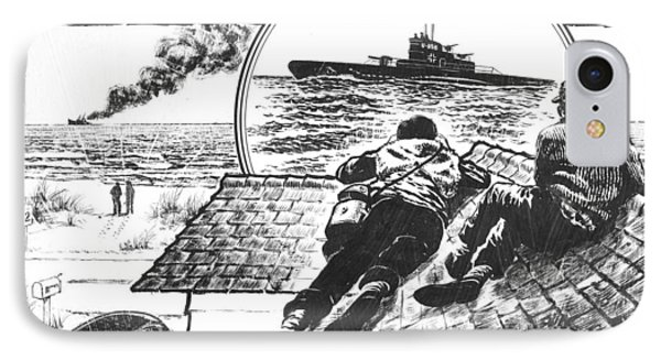 Pt Boats Off Nc Coast In Wwii IPhone Case