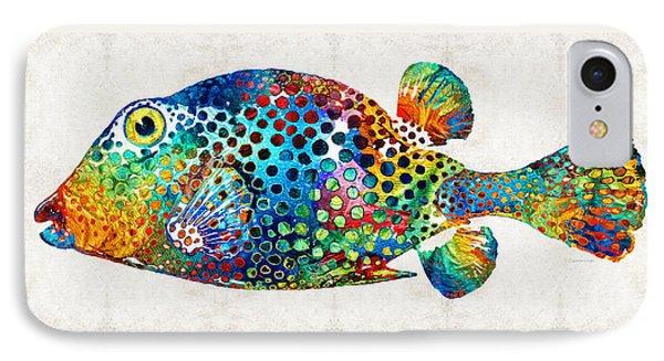 Puffer Fish Art - Puff Love - By Sharon Cummings IPhone Case