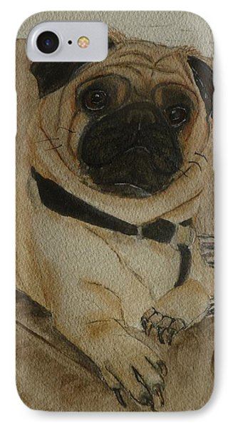 Pug Dog All Ready To Cuddle IPhone Case