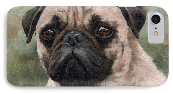 Pug Portrait Painting IPhone Case