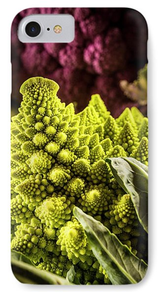 Purple And Romanesque Cauliflowers IPhone Case