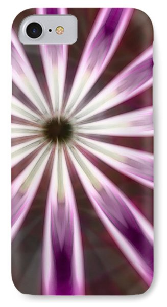 Purple And White Fractal Flower  IPhone Case