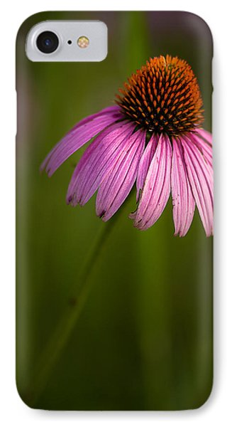 Purple Cone Flower Portrait IPhone Case