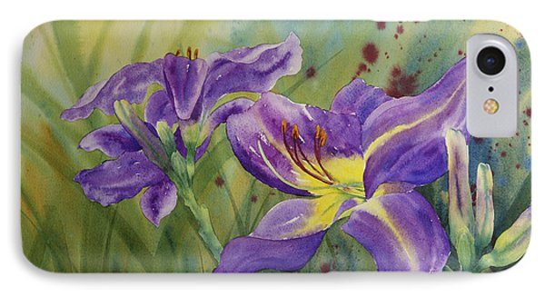 Purple Day Lily IPhone Case