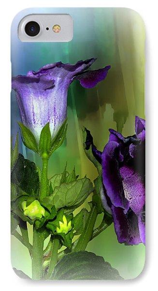 Purple Gloxinia II IPhone Case