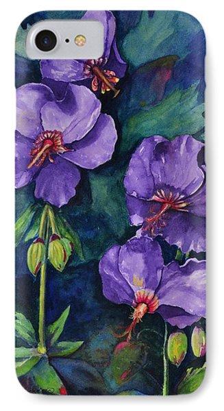 Purple Hibiscus IPhone Case