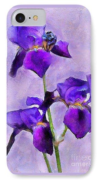 Purple Irises - Painted IPhone Case