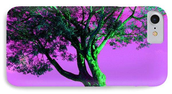Purple Sky Tree IPhone Case