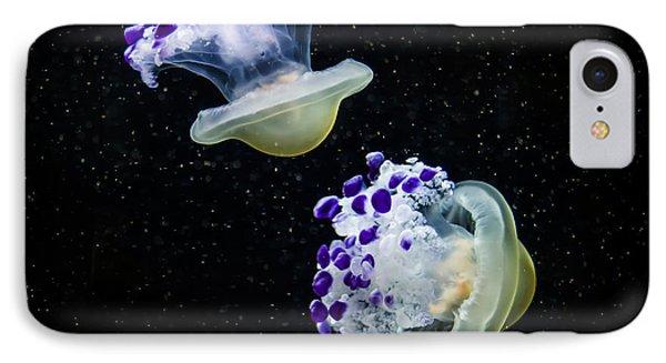 Purple Spaceships IPhone Case