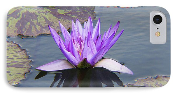 Purple Water Lily With Lily Pads One IPhone Case
