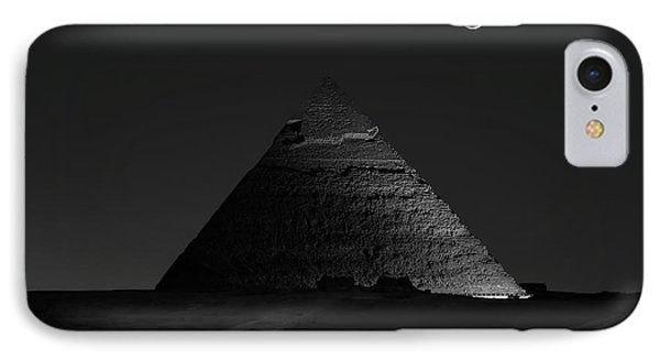 Egyptian iPhone 8 Case - Pyramid At Night by Vincent Chen