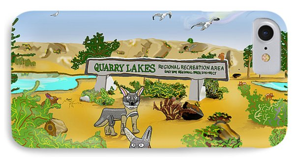 Quarry Lakes And Gray Foxes IPhone Case
