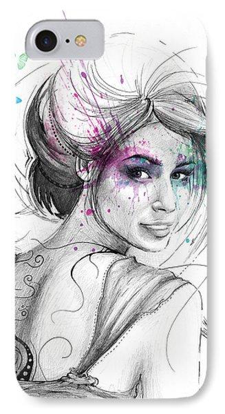 Beautiful iPhone 8 Case - Queen Of Butterflies by Olga Shvartsur
