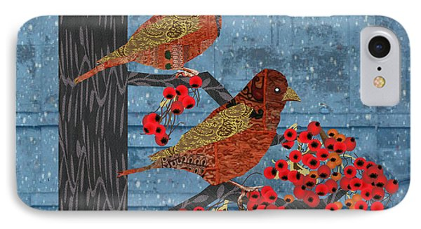 Sage Brush Sparrow In Rain IPhone Case