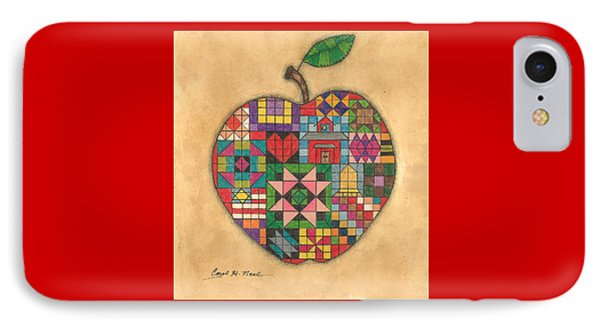 Quilted Apple IPhone Case