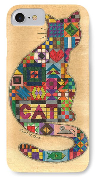 Quilted Cat IPhone Case