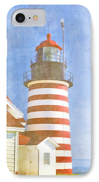 Quoddy Lighthouse Lubec Maine IPhone Case