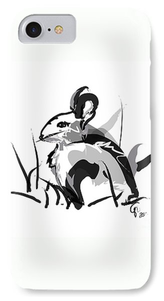 Rabbit Bunny Black White Grey IPhone Case