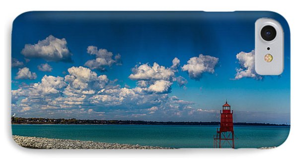 Racine Harbor Lighthouse IPhone Case
