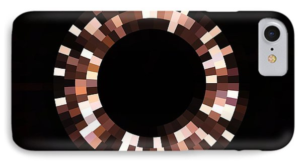 Radial Mosaic In Brown IPhone Case