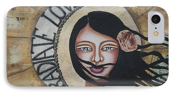 Radiate Love Inspirational Mixed Media Folk Art IPhone Case