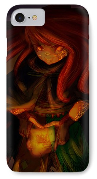 Radiating Light Original Artwork By Amy Manley  IPhone Case