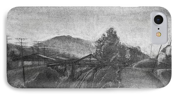 Railroad To Coal Mine. IPhone Case