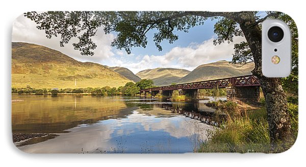 Railway Viaduct Over River Orchy IPhone Case