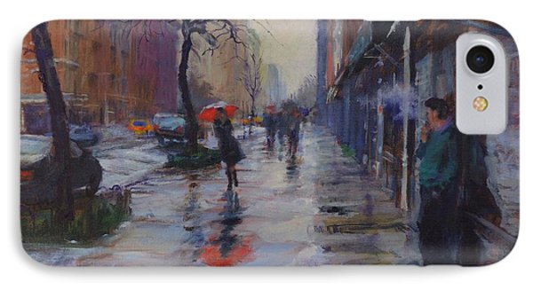 Rain And Smoke On Amsterdam Avenue IPhone Case