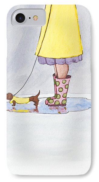 Whimsical iPhone 8 Case - Rain Boots by Christy Beckwith