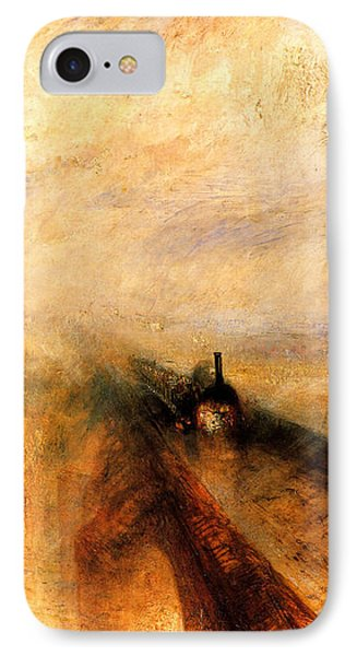 Train iPhone 8 Case - Rain Steam And Speed.  by J M W Turner
