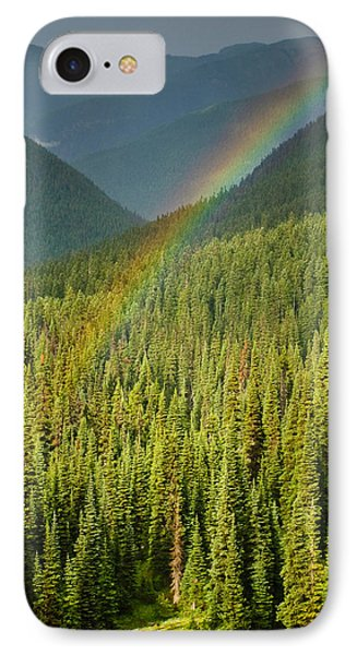 Rainbow And Sunlit Trees IPhone Case