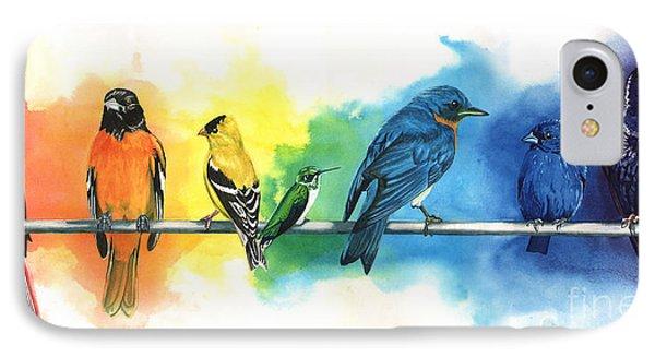 England iPhone 8 Case - Rainbow Birds by Do'an Prajna - Antony Galbraith