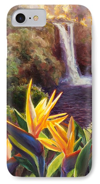 Rainbow Falls Big Island Hawaii Waterfall  IPhone Case