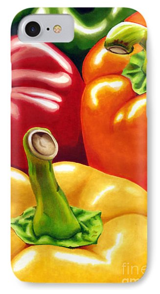 Rainbow Of Peppers IPhone Case