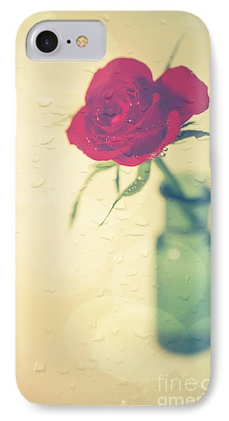 Rose iPhone 8 Case - Raindrops On Roses . . . by Jan Bickerton