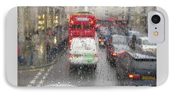 Rainy Day London Traffic IPhone Case