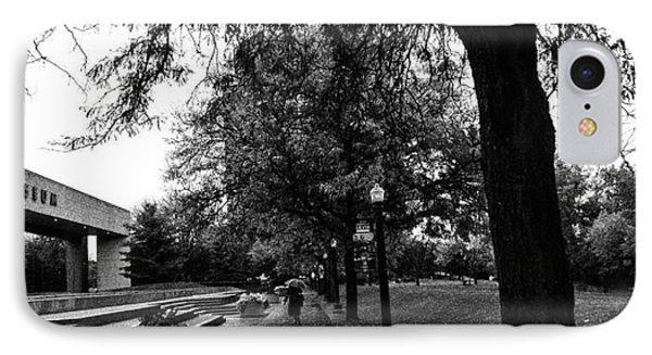 Rainy Grand Rapids Gerald Ford Museum IPhone Case