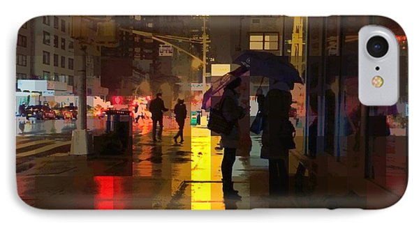 Rainy Night New York IPhone Case