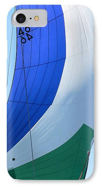 Raising The Blue And Green Sail IPhone Case