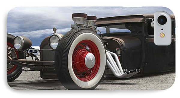 Rat Rod On Route 66 Panoramic IPhone Case