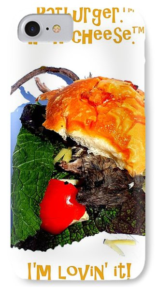 Ratburger With Cheese IPhone Case