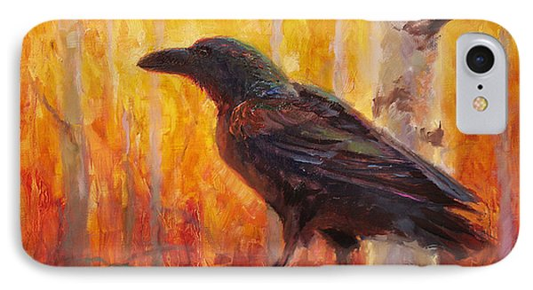 Raven Glow Autumn Forest Of Golden Leaves IPhone Case