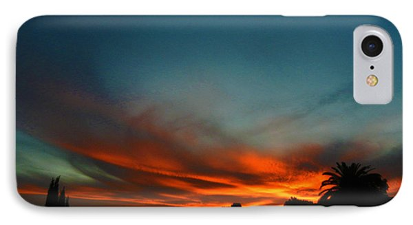 Red And Green Sunset IPhone Case